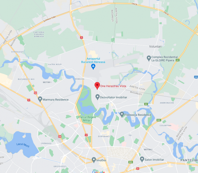 One Herastrau Vista neighbourhood map