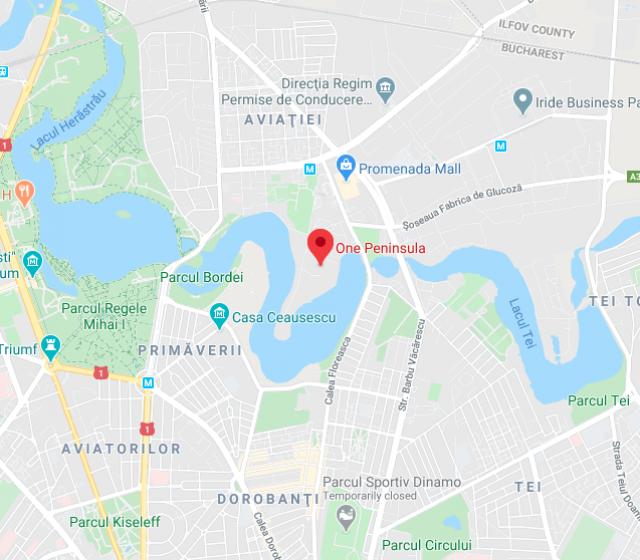 One Peninsula neighbourhood map