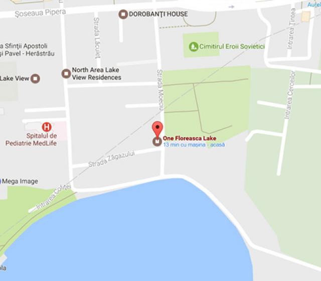 One Floreasca Lake neighbourhood map