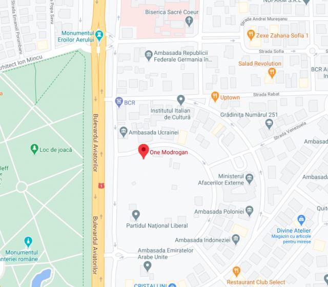 One Modrogan neighbourhood map