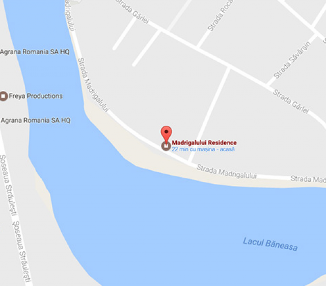 Madrigalului Residence neighbourhood map