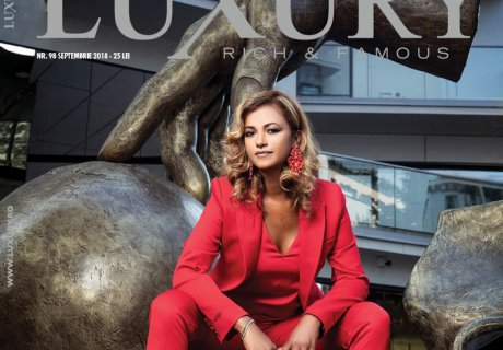 Beatrice Dumitrașcu, on the cover of Luxury Magazine