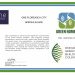 "One Mircea Eliade granted ""Green Homes"" pre-certification"