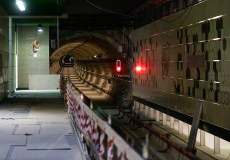 Infrastructure progress at Academia Militara metro station
