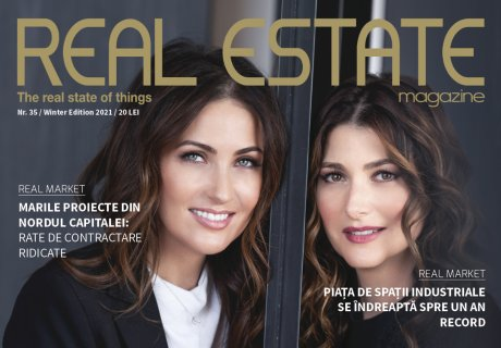Real Estate Magazine cover featuring founders of Lemon Interior Design