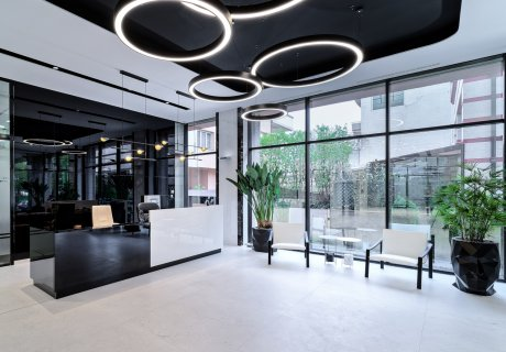 Lemon Office Design concept for Țiriac Center lobby