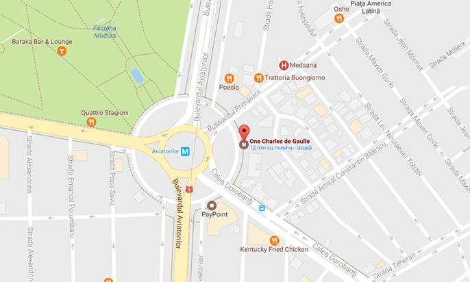 One Charles de Gaulle neighbourhood map
